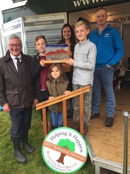 Fergus Ewing MSP, Lucy Beattie Leckmelm Holiday Cottages and Estate and family at Moy Game Fair