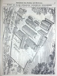 Picture of Leckmelm Farm from 1884