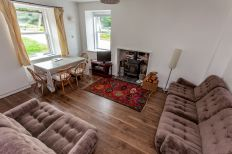 Living area of self catering cottage, Campbelltown Cottage No 5, Leckmelm Holiday Cottages Ullapool