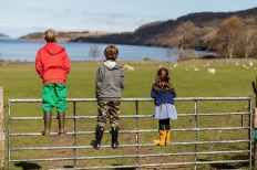 Kids at Leckmelm Holiday Cottages Ullapool
